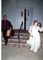 Leaving the Reception